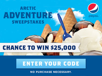 Arctic Adventure Sweepstakes. Enter your code now!