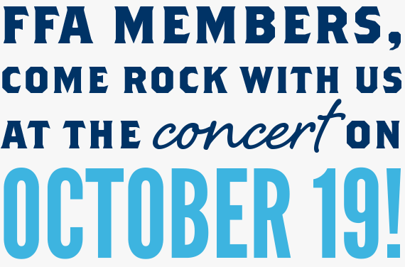 FFA members, come rock with us at the concert on October 19!