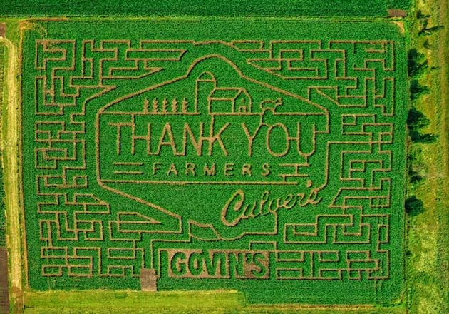 Thank You Farmers Corn Maze