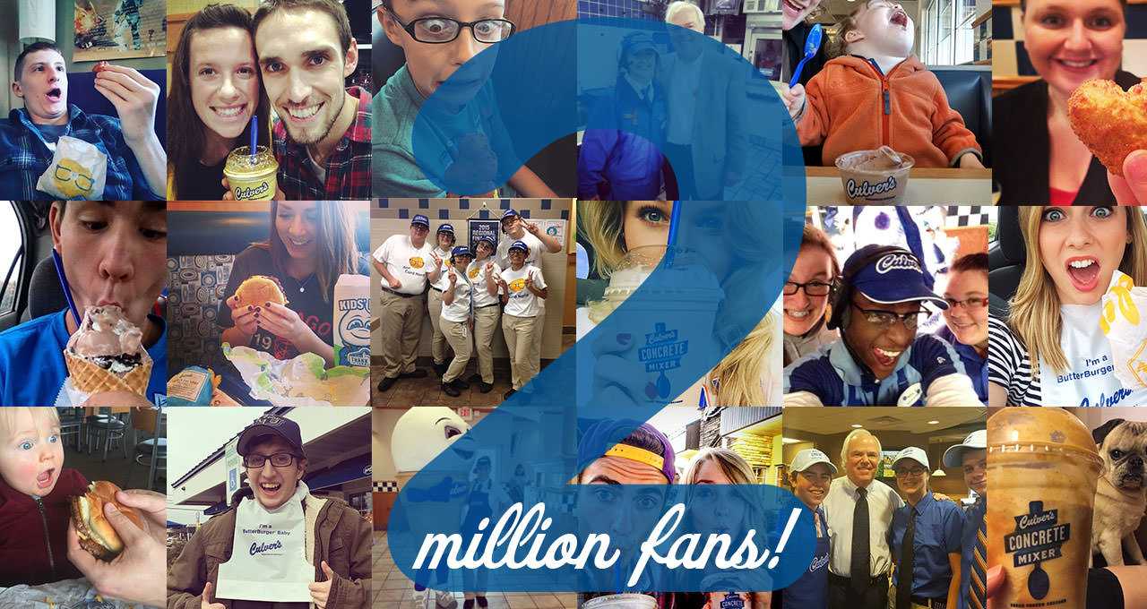 Culver's Celebrates a Social Media Milestone: Two Million Fans
