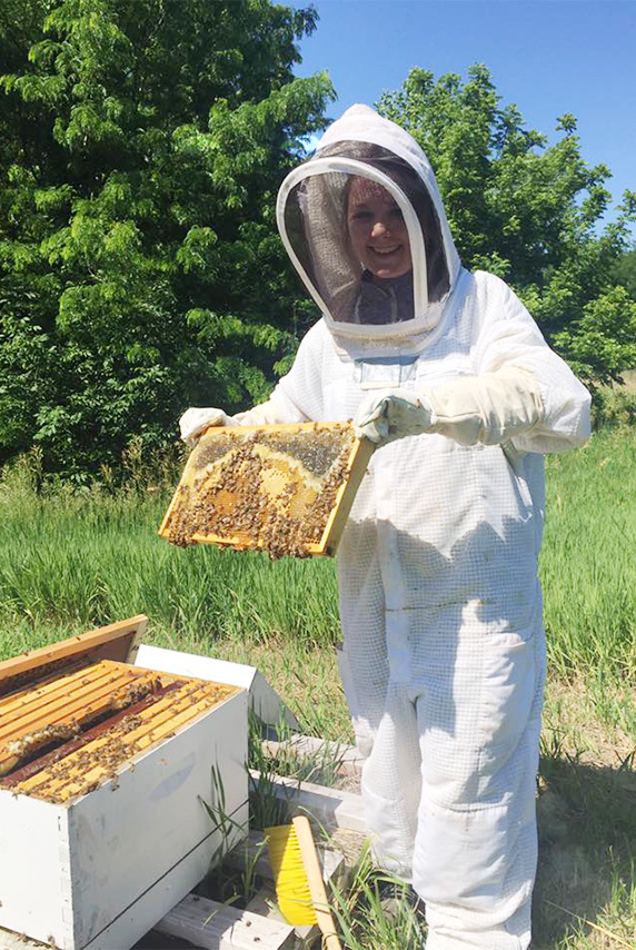 Ashley beekeeping