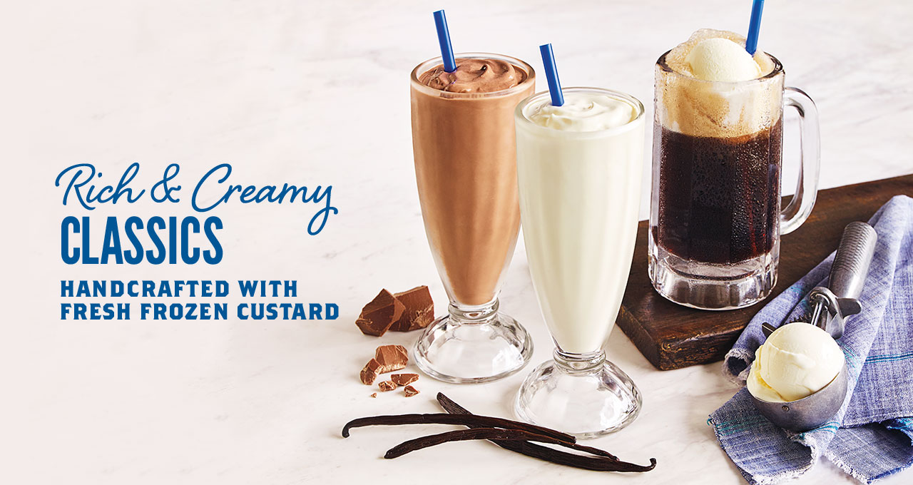 Handcrafted Shakes, Malts and Floats