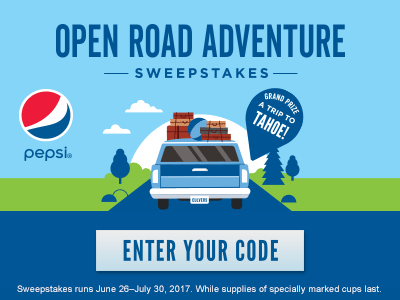 Open Road Adventure Sweepstakes - Enter Your Code