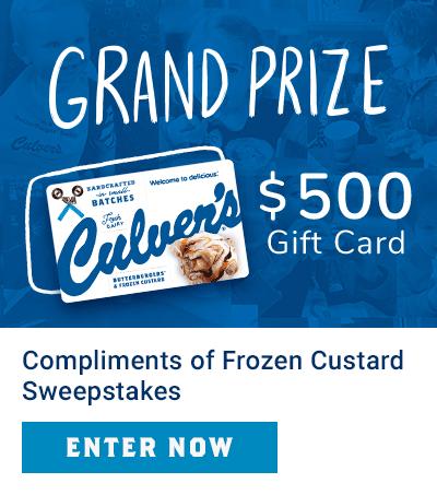 Compliments of Frozen Custard Spotlight: Enter Now