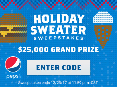 Holiday Sweater Sweepstakes - Enter Now
