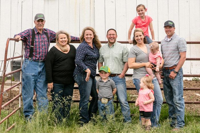 Cristen Clark with family