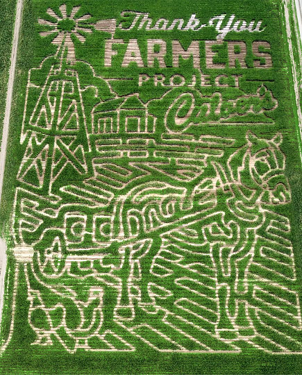 A Thank You Farmers Project corn maze.