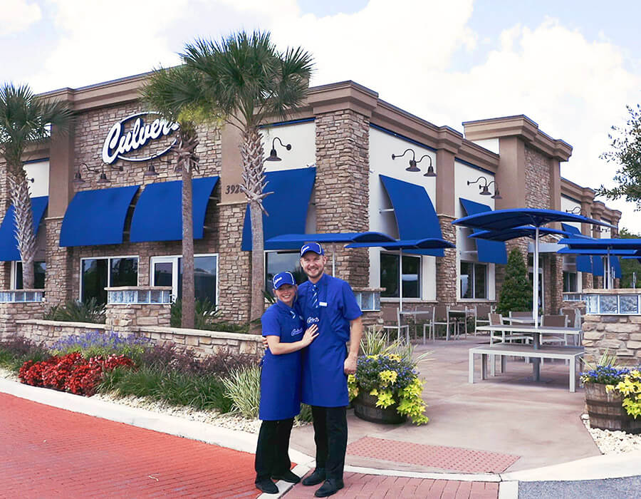Team Members outside of Culver's Restaurant
