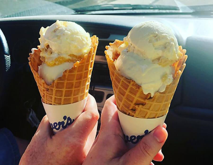 Fresh Frozen Custard in Waffle Cones