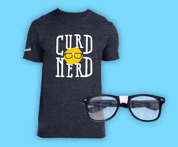 Curd Nerd T-Shirt and Glasses