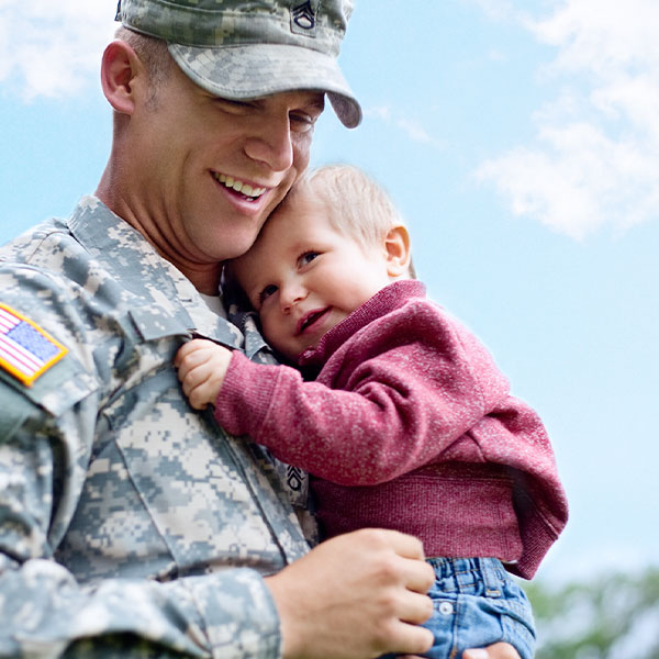 Soldier Hero - Photograph of father and son.