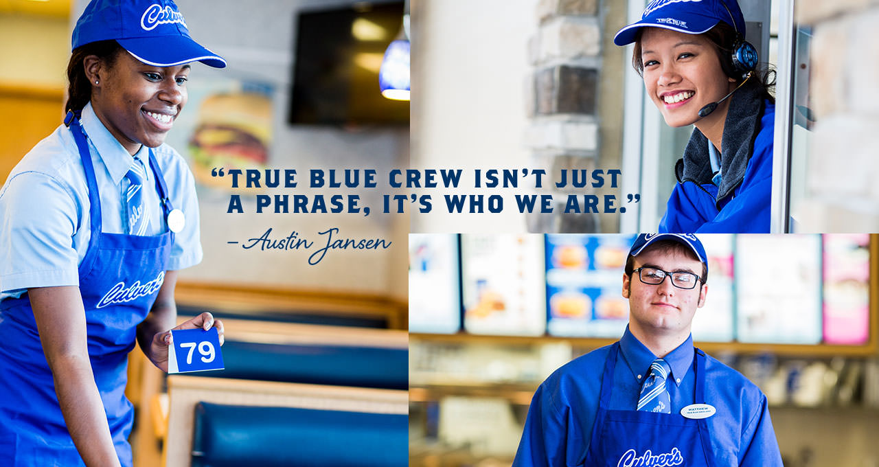 "Collage of Culver's Team Members: True Blue Crew Isn't Just A Phrase, It's Who We Are"" by Austin Jansen"
