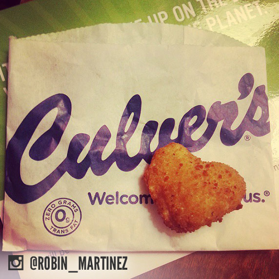 Photo of heart-shaped Cheese Curd.