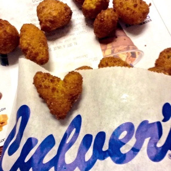 Heart Shaped Cheese Curd.