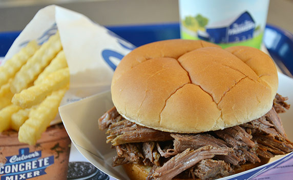 Photo of Beef Pot Roast sandwich.