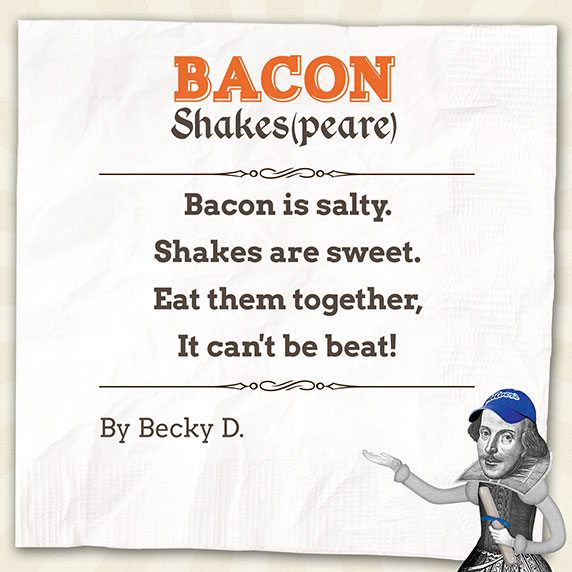 Bacon Shakespeare Poem by Becky D.