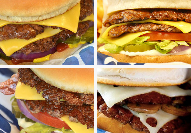 Shot of Culver's ButterBurgers.