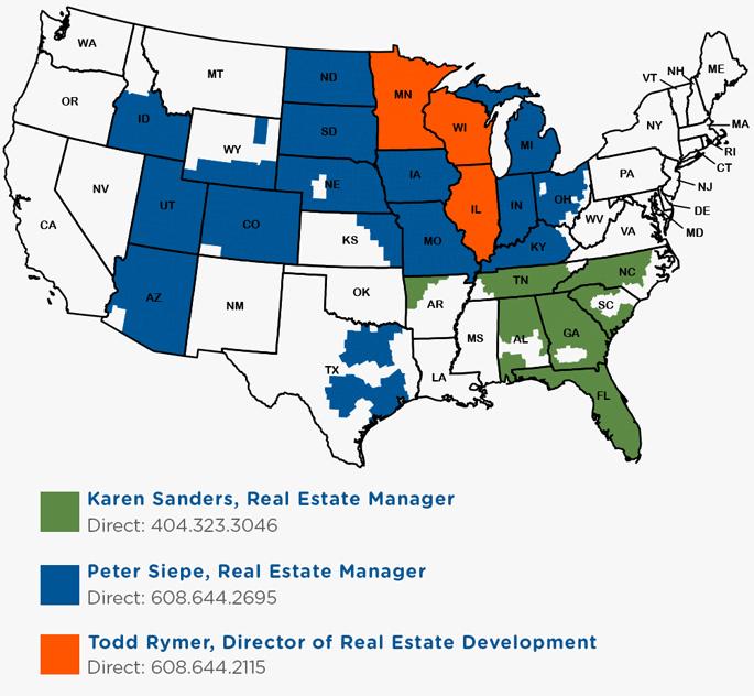 Culver's Real Estate Map: Call Peter Siepe, 608-644-2695