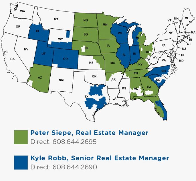 Culver's Real Estate Map