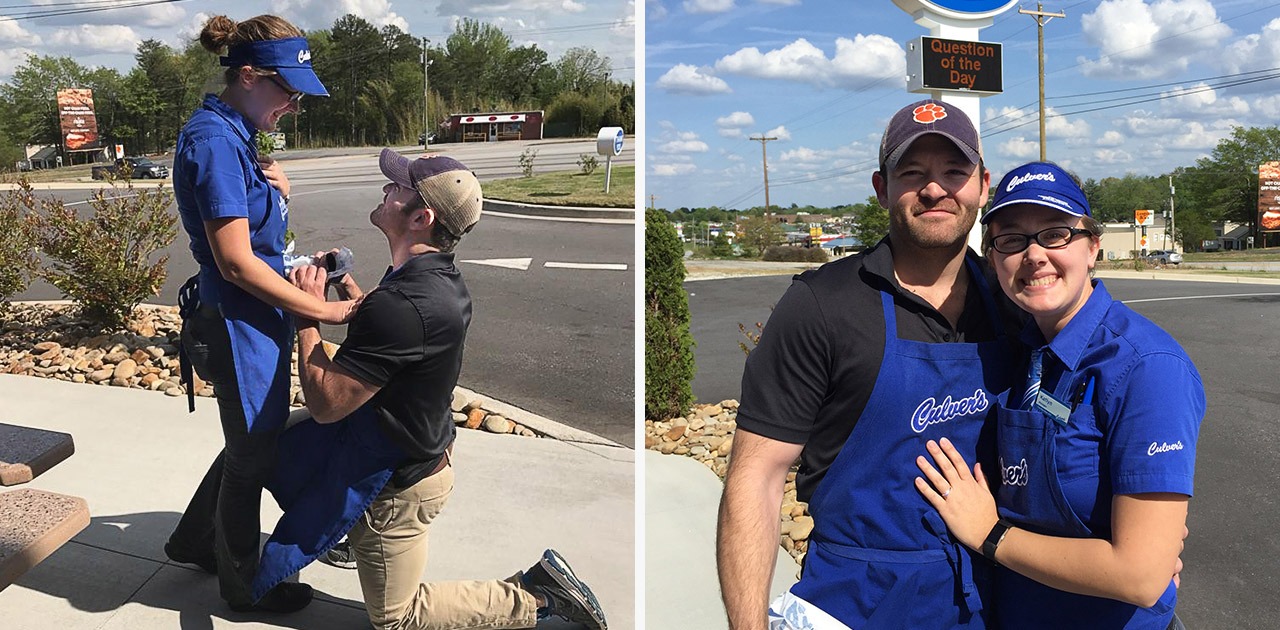 True Blue Love: Team Members Get Engaged at Culver's