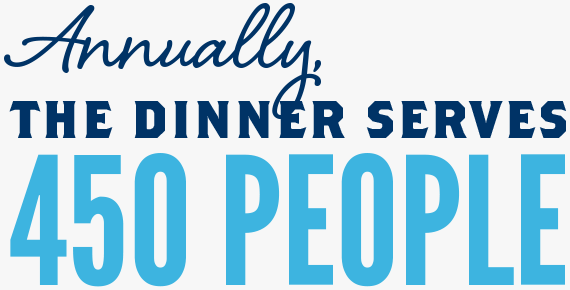 Annually, the dinner serves 450 people.