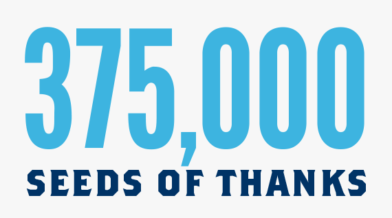 375,000 Seeds of Thanks