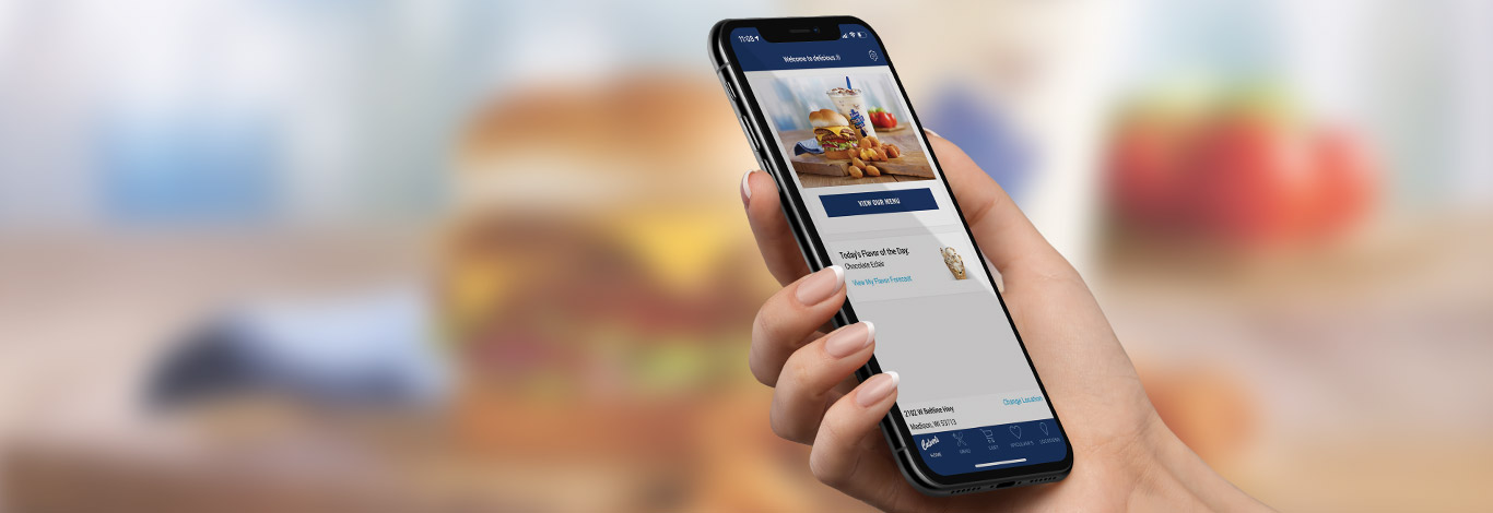 Hand Holding Culver's App