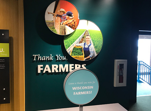 The Thank You Farmers Exhibit at the Farm Wisconsin Discovery Center