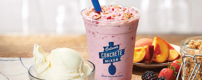 Concrete Mixers Vanilla Custard, Granola, and Fruit