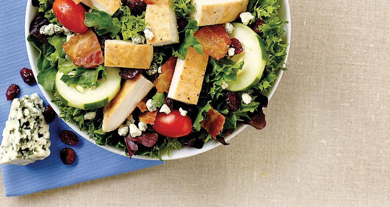 Cranberry Bacon Bleu Salad