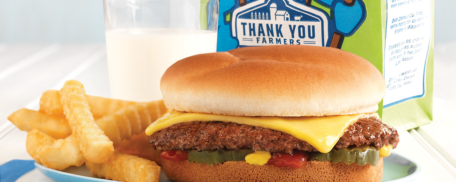 photograph regarding Culver's Printable Coupons named Children Supper Menu Grilled Cheese, Corn Doggy A lot more Culvers