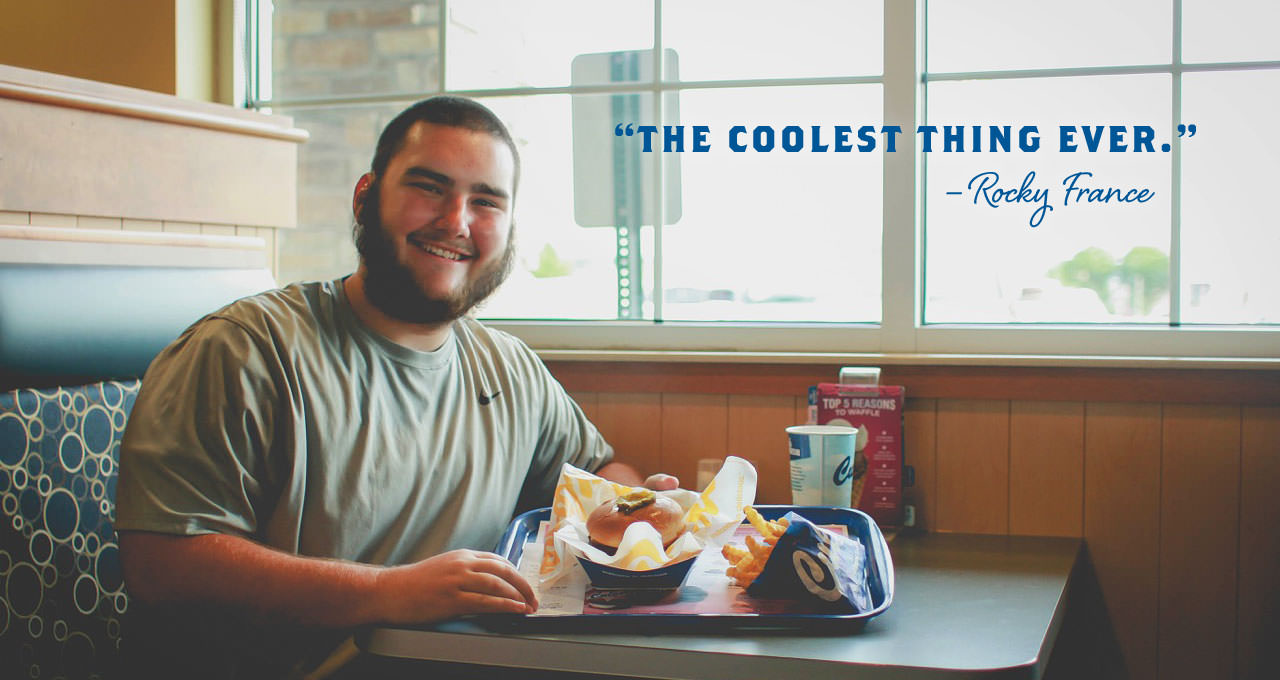Student Captures Love for Culver's in Senior Yearbook Photo
