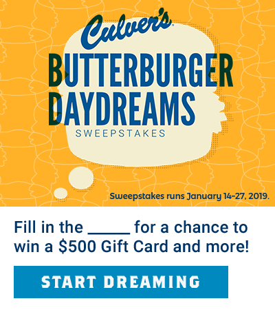 ButterBurger Daydreams Sweepstakes - Enter Now