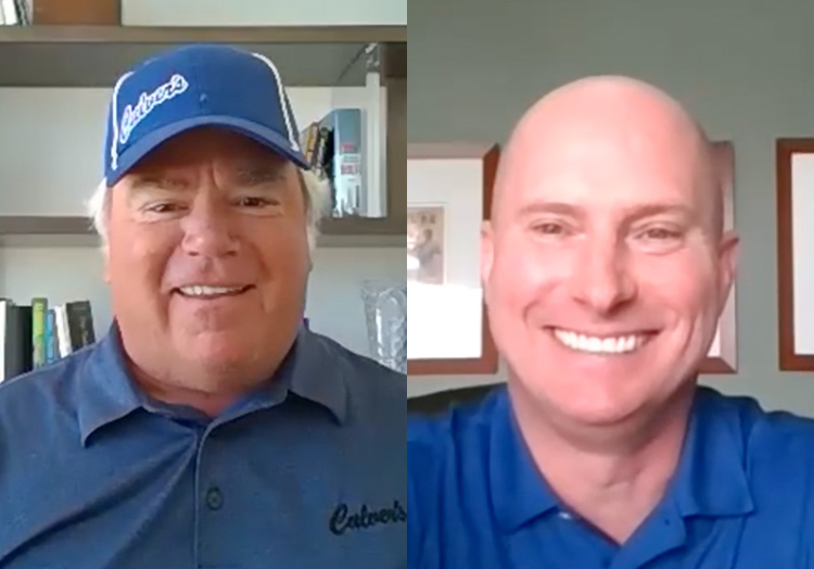 Link to story: Thank you, team members. Craig Culver and CEO Joe Koss on video call in their home offices