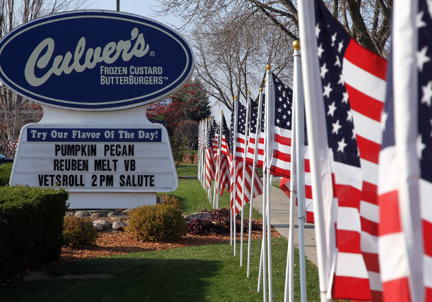 Veterans Honored with Celebration at Culver's of Beloit