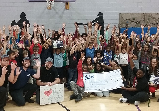 Presenting check to the Boys & Girls Club