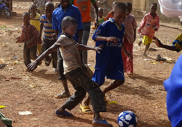 Restaurant Donates Soccer Balls to West African Village