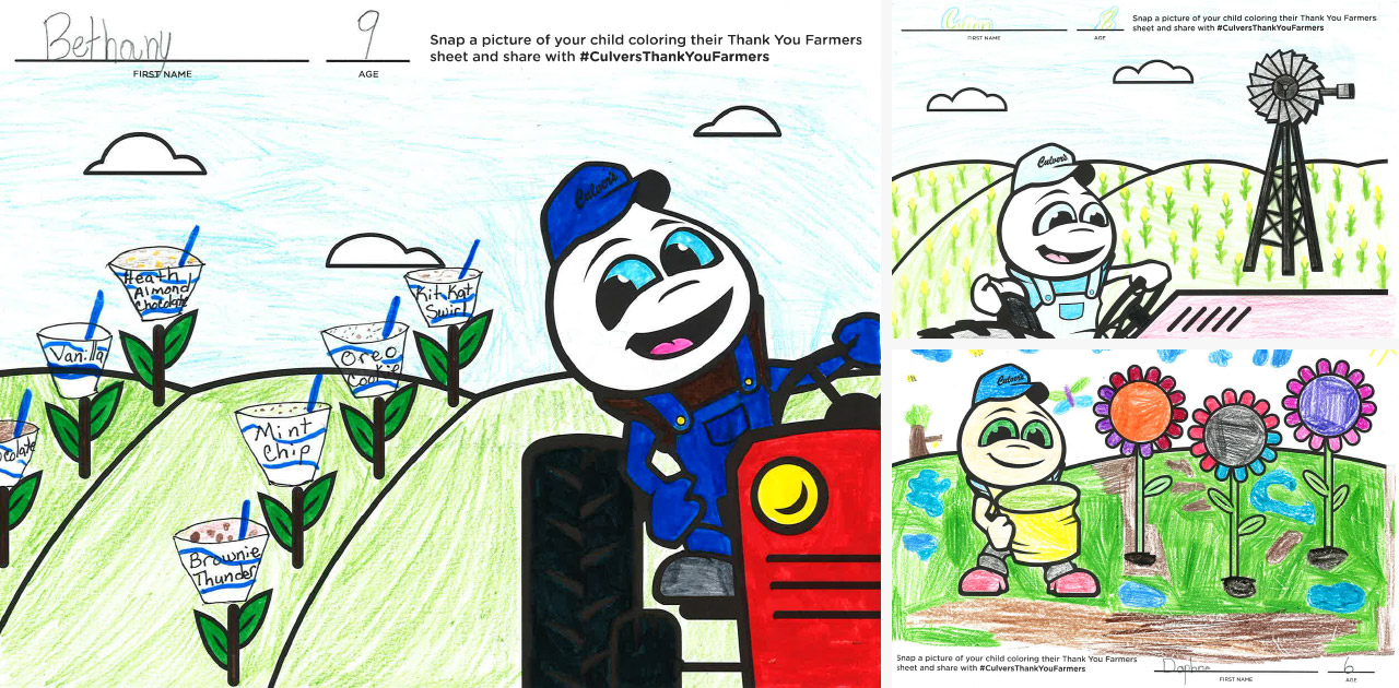 Young Guests Get Involved With Thank You Farmers Project Coloring Contest