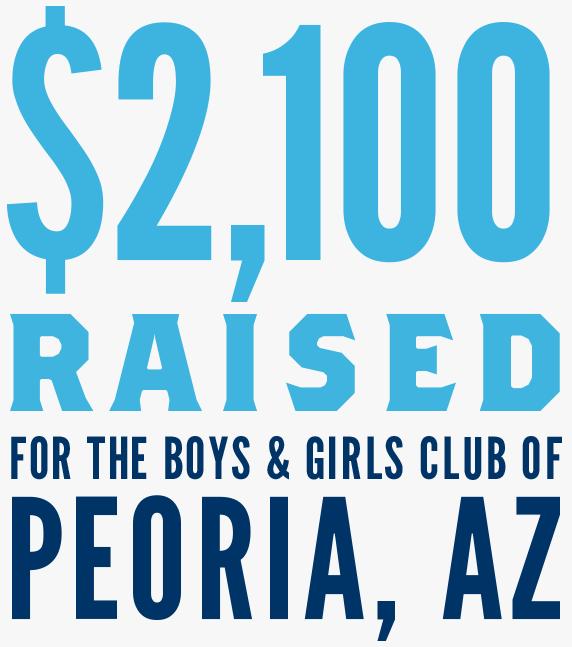 $2,100 raised for the Boys & Girls Club of Peoria, AZ