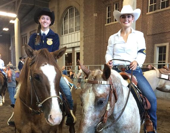 Skylar on horse