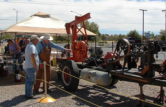 Culver's guests view antique farm machinery at the Power From the Past event.