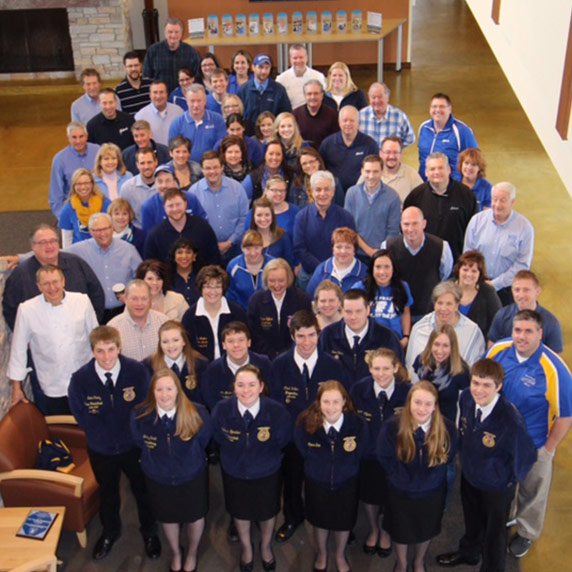 FFA Members wear all blue to show their support.