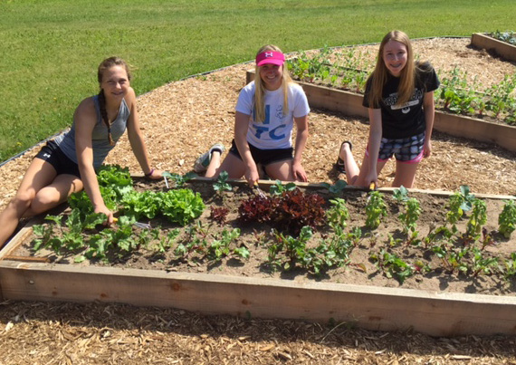Antigo FFA members helping in their new community garden