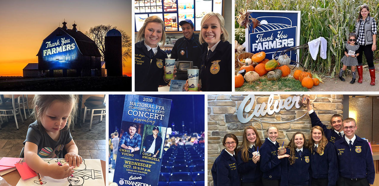 Collage of 2016 Thank You Farmer's moments.