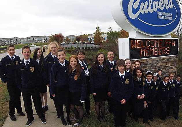 FFA Chapter Wins Trip from Culver's