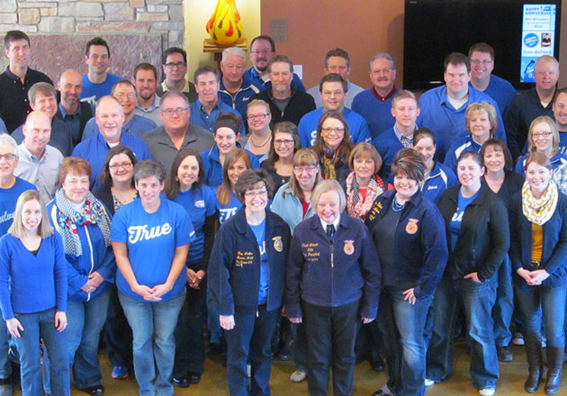 FFA Members in their blue jackets.