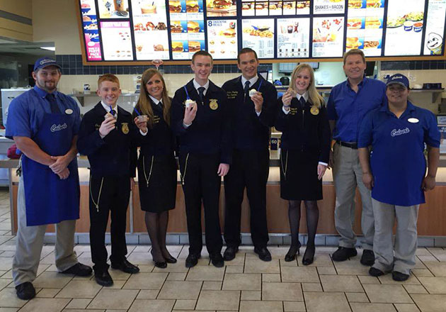 FFA students visiting a Culver's.