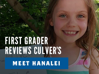 First Grader Reviews Culver's